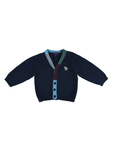 Cardigã Paul Smith Junior Marinho Infantil