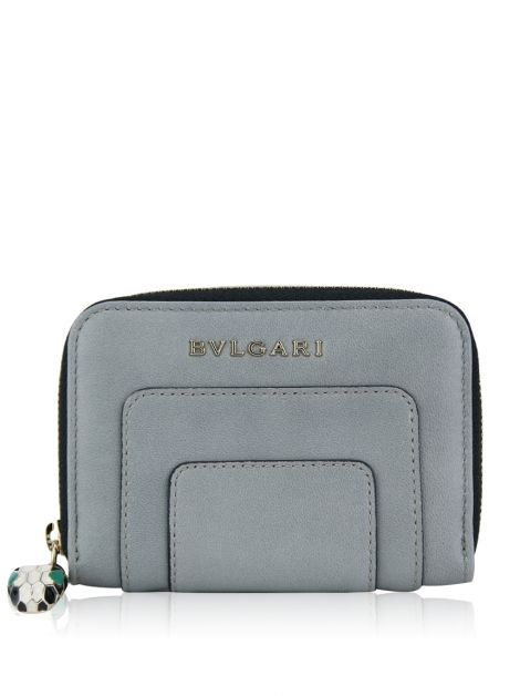 Carteira Bulgari Serpenti Forever Zipped Wallet Cinza