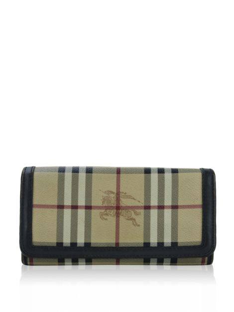 Carteira Burberry Canvas Heymarket Check