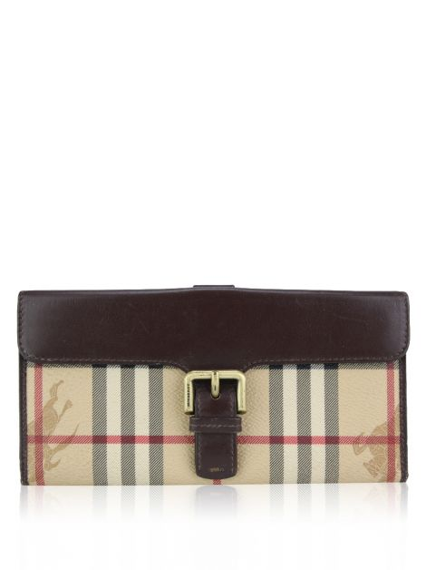 Carteira Burberry Canvas Monograma
