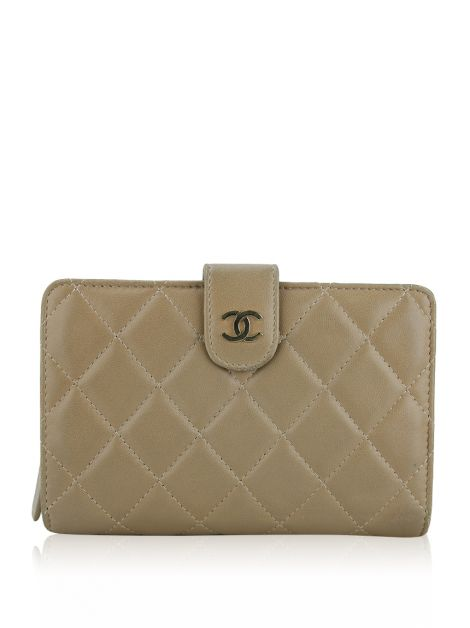 Carteira Chanel L-Zip Pocket Bege