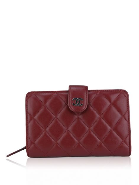 Carteira Chanel L-Zip Pocket Wallet Vermelha
