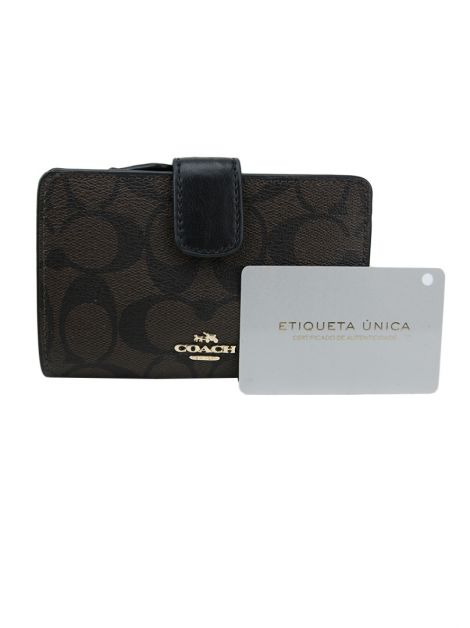 Carteira Coach Canvas Monograma