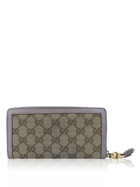 Carteira Gucci Bamboo GG Canvas