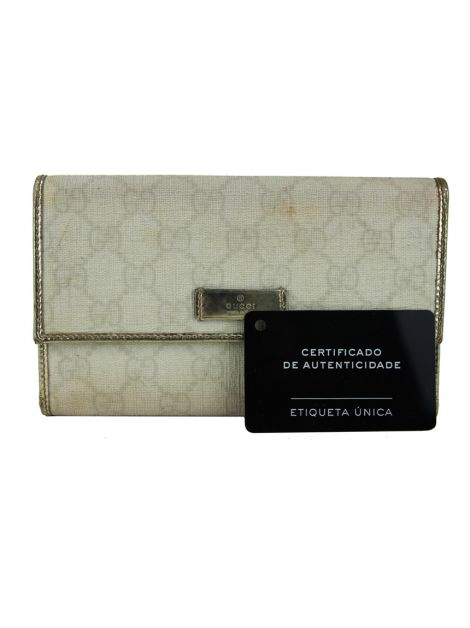 Carteira Gucci Canvas Off-White