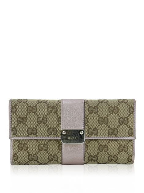 Carteira Gucci GG Canvas Continental Rosa