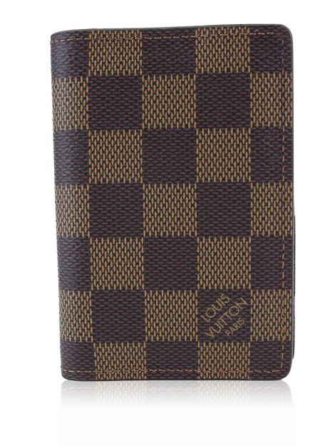Carteira Louis Vuitton Pocket Organizer Damier Ebene