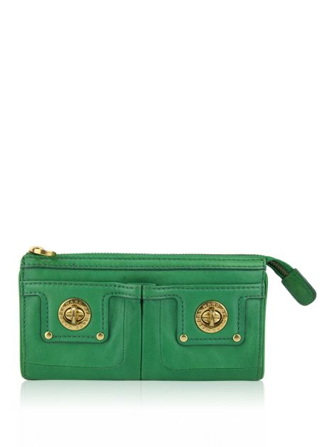 Carteira Marc by Marc Jacobs Couro Verde