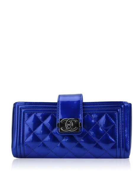 Carteira Chanel Mini Boy Azul