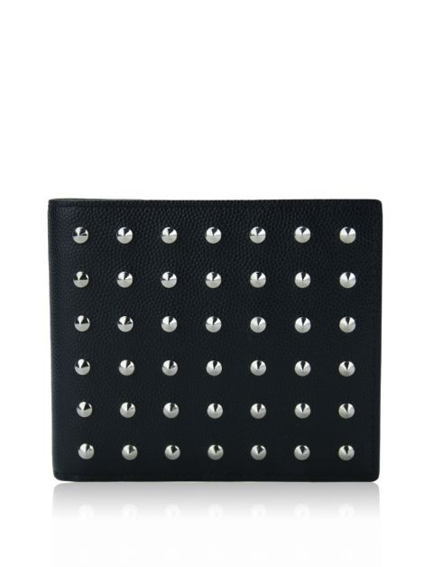 Carteira Yves Saint Laurent Grain De Poudre Studded Bifold
