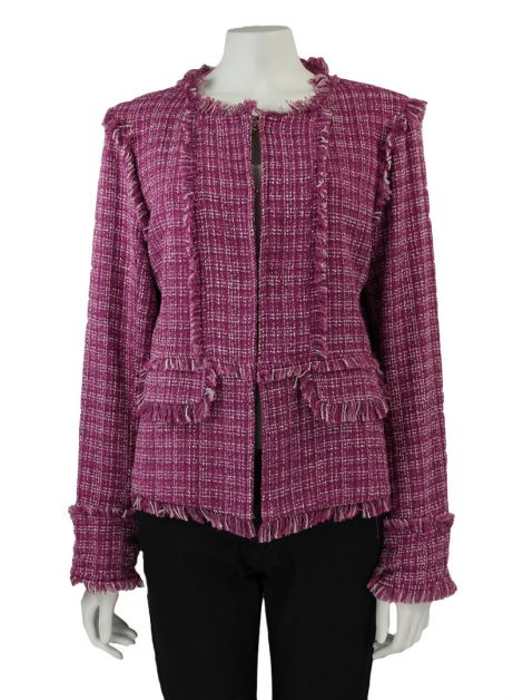 Casaco Mixed Tweed Rosa