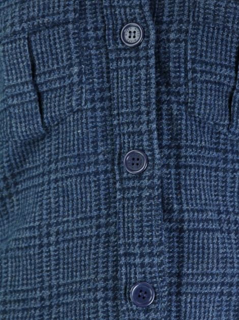Casaco Mixed Tweed Azul