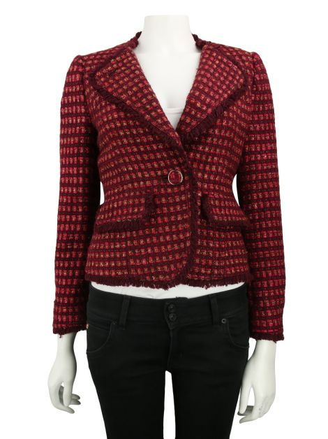 Blazer Tory Burch Tweed Vinho