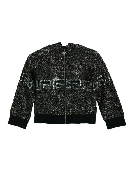 Casaco Young Versace Preto Strass Infantil