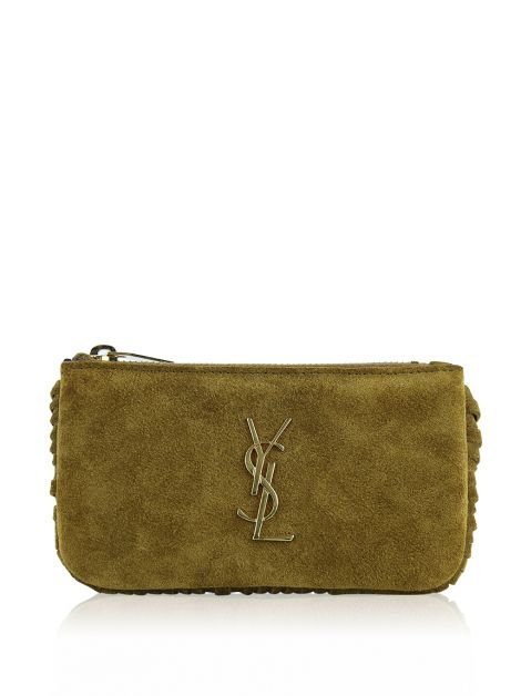 Clutch Saint Laurent Fringes Caramelo