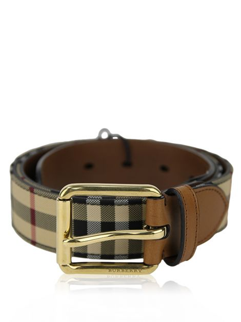 Cinto Burberry Mark Horseferry Marrom