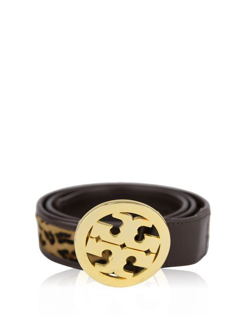 Cinto Tory Burch Animal Print Couro