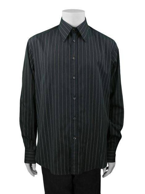 Camisa Versace Collection City Grafite Masculina