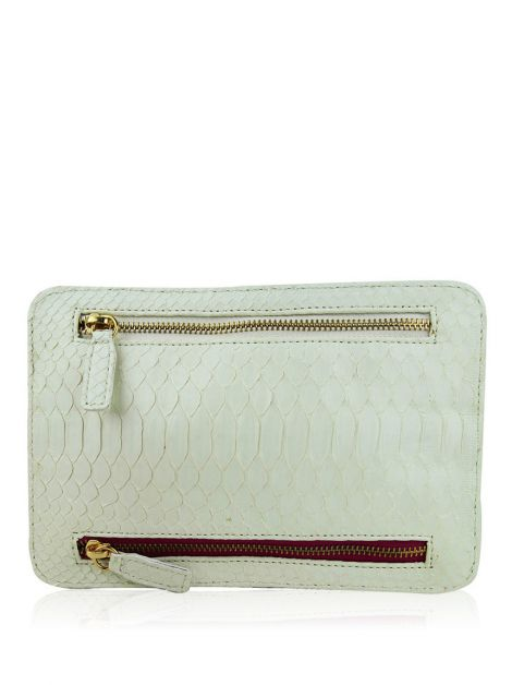 Clutch Angela Di Verbeno Python Off-White