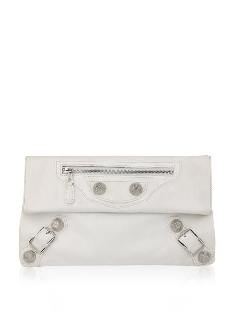 Clutch Balenciaga Envelope Off White