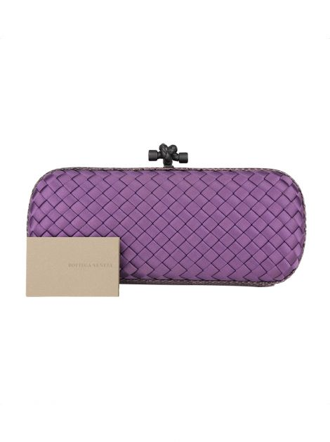 Clutch Bottega Veneta Stretch Knot Ayers Roxa