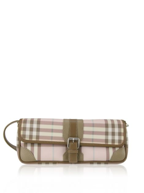 Clutch Burberry Canvas Estampada