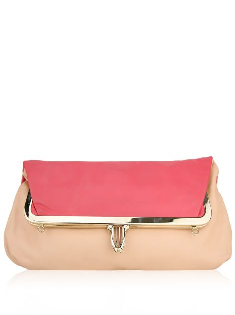Clutch Christian Louboutin Couro Bicolor