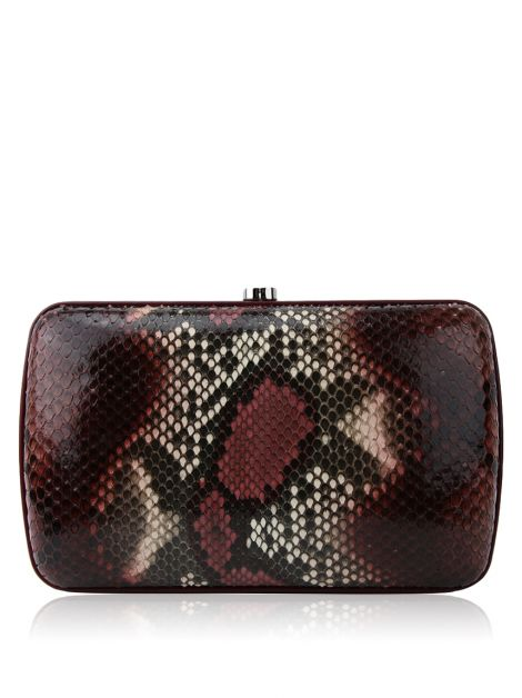 Clutch Gucci Broadway Metal Frame Python