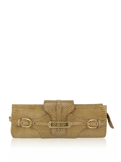 Clutch Jimmy Choo Tan Lizard Leather Wristlet