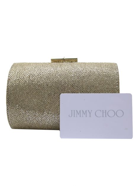 Clutch Jimmy Choo Oval Dourada