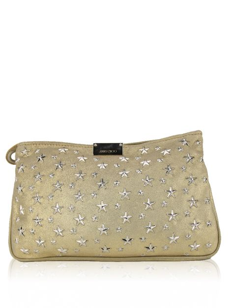 Clutch Jimmy Choo Zulu Dourada