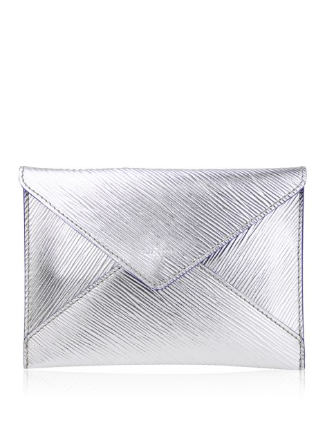 Clutch Louis Vuitton Envelope Epi Prata