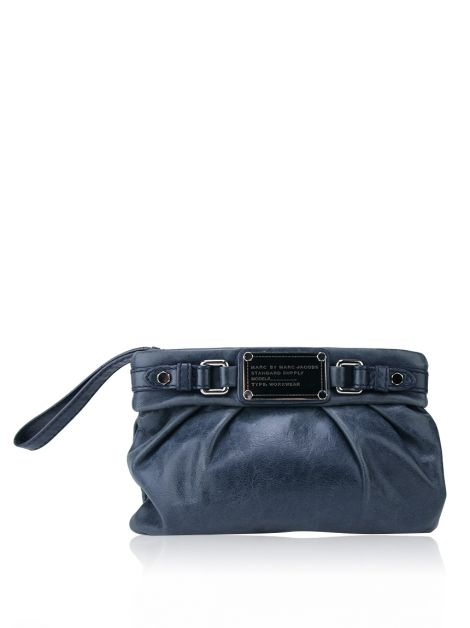 Clutch Marc By Marc Jacobs Couro Azul