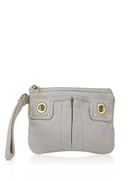 Clutch Marc By Marc Jacobs Couro Creme