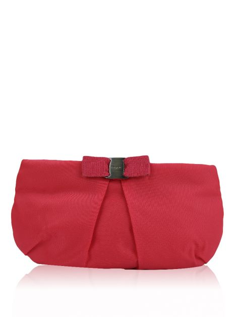 Clutch Salvatore Ferragamo Nylon Rosa