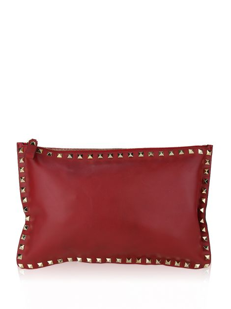 Clutch Valentino Rockstud Large Flat Zip Pouch