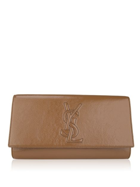 Clutch Yves Saint Laurent Belle Du Jour Caramelo