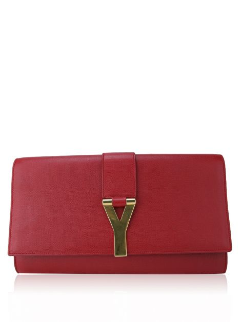 Clutch Yves Saint Laurent Classic Y Clutch Vermelha