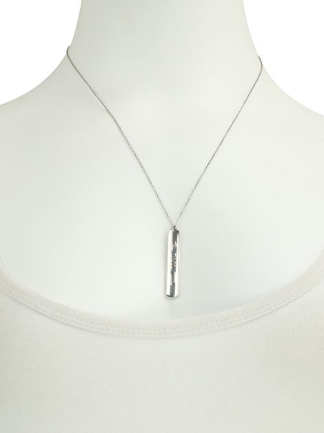 Colar Tiffany & Co 1837 Bar Pendant Prata