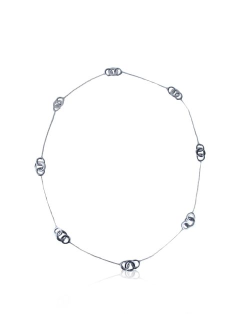 Colar Tiffany & Co Interlocking Circles Prata