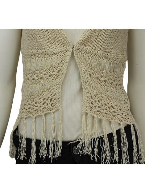 Colete Mixed Tricot Creme