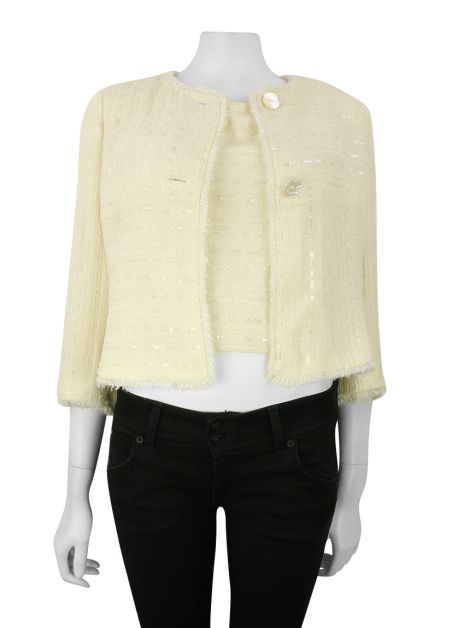 Conjunto Chanel Tweed Off-White