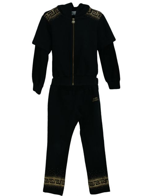 Conjunto Young Versace Strass Preto Infantil