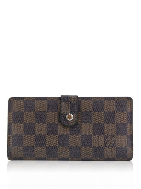 Carteira Louis Vuitton Continental French Purse Damier Ebene