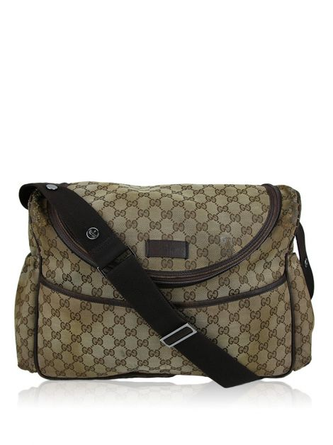 Diaper Bag Gucci Messenger Monograma