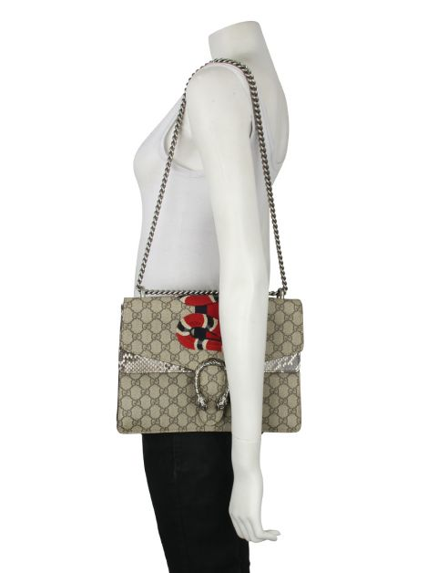 Bolsa Gucci Dionysus Snake Embroidered Canvas