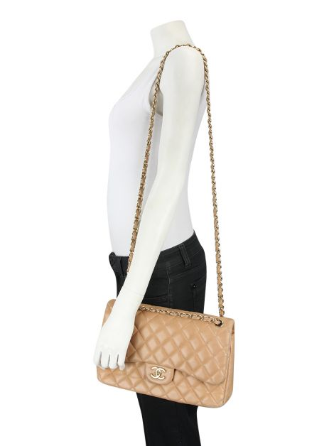 Bolsa Chanel Double Flap Nude