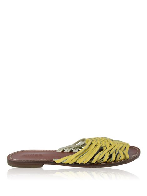 Flat Mixed Couro Amarelo