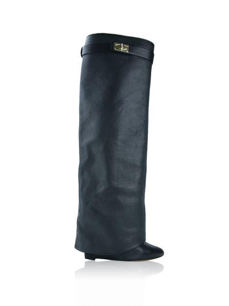 Bota Givenchy Fold Over Shark Tooth Preta