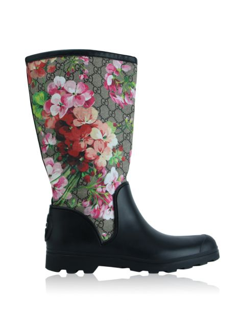 Galocha Gucci Borracha Guccissima Floral